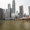 The skyline and cityscape along Singapore River