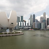 Marina Bay Skyline in Singapore in Asia