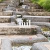 Calm flow of water in an Asian garden