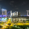 Singapore Skyline and Cityscape at night
