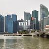 Marina Bay Skyline in Singapore in Asia