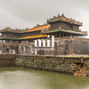 Imperial City in Hue - Royal Palace set within the walled complex of the forbidden city