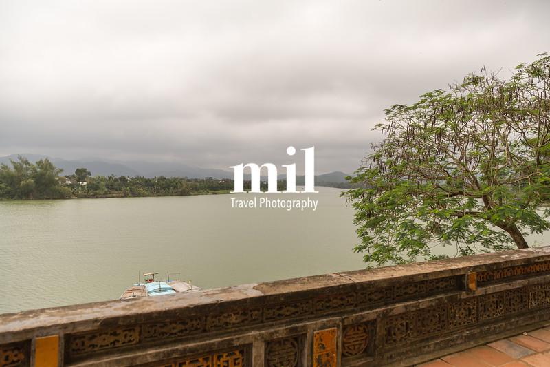 Perfurme River near the Celestial Lady in Hue Vietnam - Chua Thien Mu