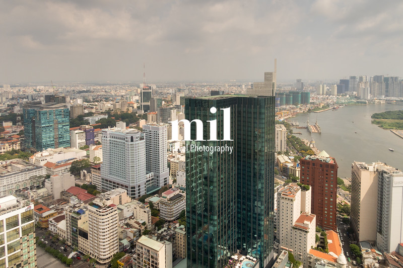 Aerial view of Ho Chi Minh City (former Saigon)