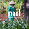 Gardener working in Ho Chi Minh City former Saigon
