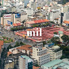 Aerial view of Ho Chi Minh City (former Saigon) Ben Thanh Market
