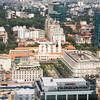 Aerial view of Ho Chi Minh City (former Saigon) towards City Hall