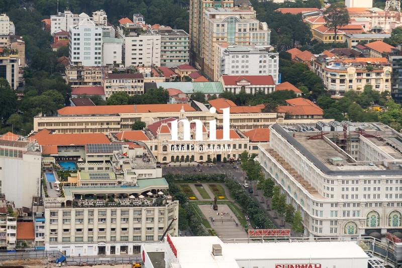Aerial view of Ho Chi Minh City (former Saigon) of City Hall