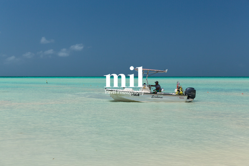 Speedboat in Aruba