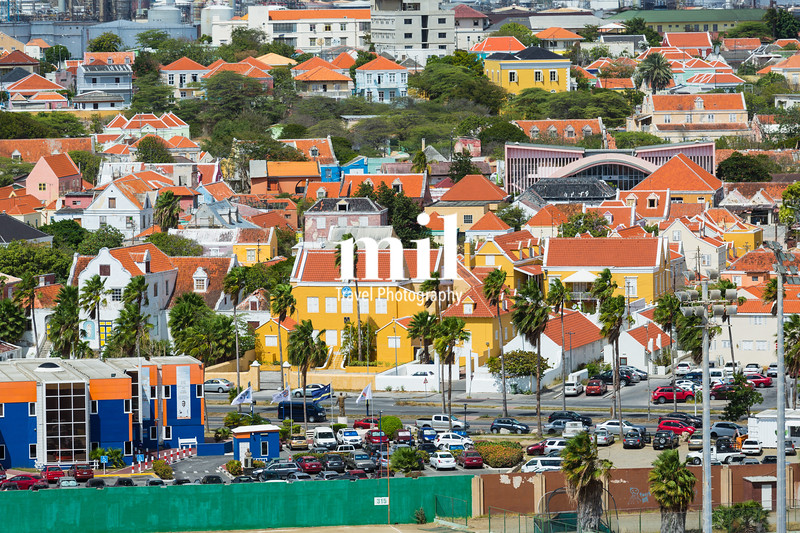 Typical residences and homes in Curacao