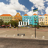 Colorful Colourful Square in Willemstad in Curaco