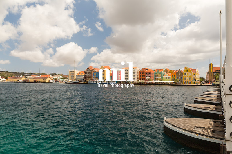 Willemstad in Curacao and the Queen Emma Bridge