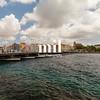 Queen Emma Bridge in Willemstad Curacao