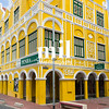Yellow building in Willemstad in Curacao