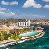 Willemstad in Curacao and the Queen Emma Bridge