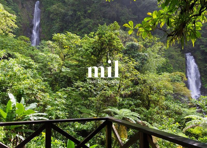 Trafalgar Falls, Dominica, Papa and Mama are the two falls