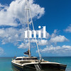 Catamaran off the coast of Nevis near St Kitts