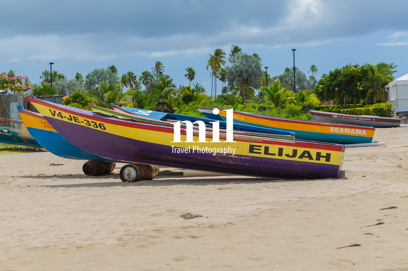 Traditional boats on Nevis
