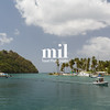 Calm bay in St Lucia