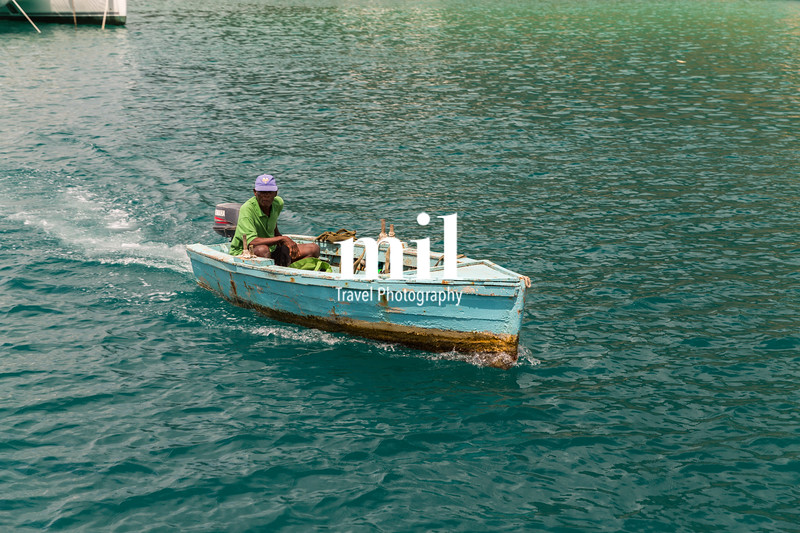 Small boat in St Lucia