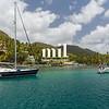 A calm bay in St Lucia