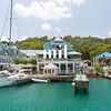 Calm harbour in St Lucia