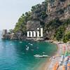 Beach in Positano on the Amalfi Coast