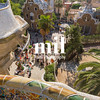 View to the entrance at Parc Guell