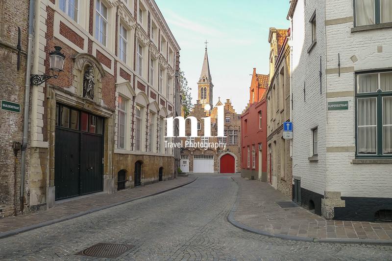 A street scene in Bruges in Belgium