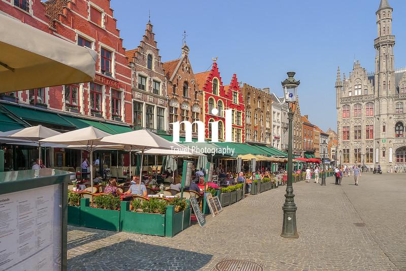The centre of Bruges in Belgium