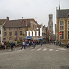 Square in the city of Bruges