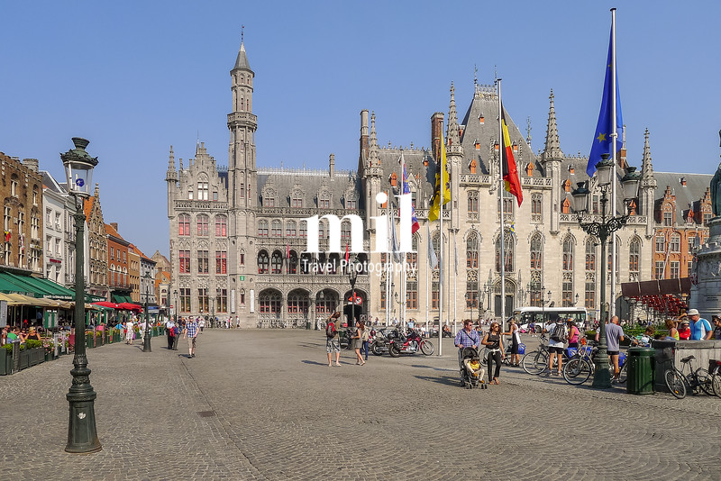 The centre of Bruges in Belgium