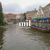 View from the canal in Bruges