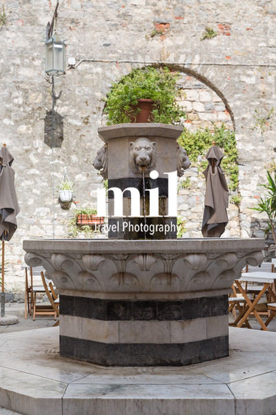 Fountain in Portovenere in the Ligurian region of Italy