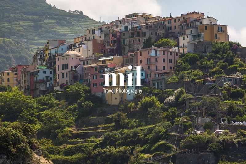 The village of Corniglia of the Cinque Terre