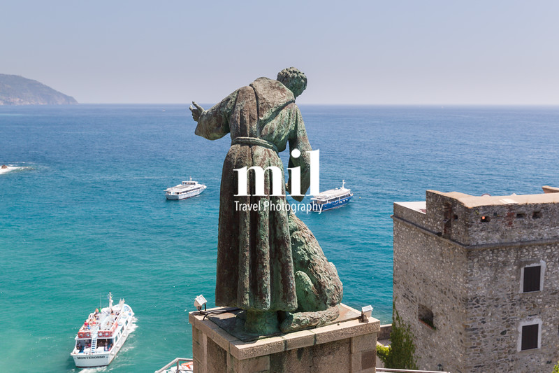 San Benedetto d'Assisi keeps watch over boats near Monterosso