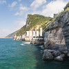 The coastline from Portovenere in the Ligurian region of Italy