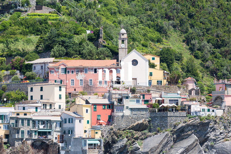 The village of Vernazza of the Cinque Terre