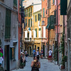 Street in Portovenere in the Ligurian region of Italy