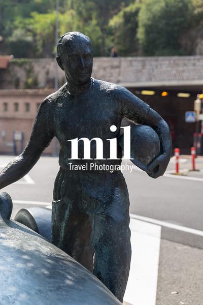 Juan Manuel Fangio memorial at the Grand Prix circuit in Monaco