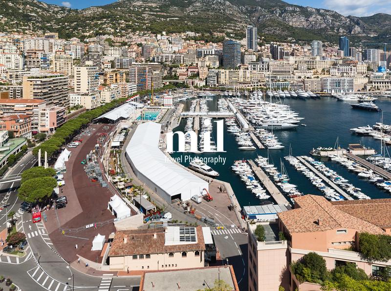 The Monaco Skyline and racetrack