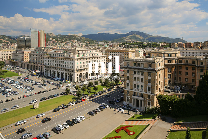 Downtown Genoa in Italy
