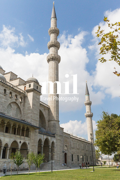 Minaret and Mosque in Istanbul
