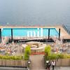 Swimming Pool floating on Lake Como