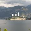 View fom the hillside opposite Bellagio on Lake Como
