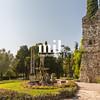Old ruins in Sirmione Lake Garda