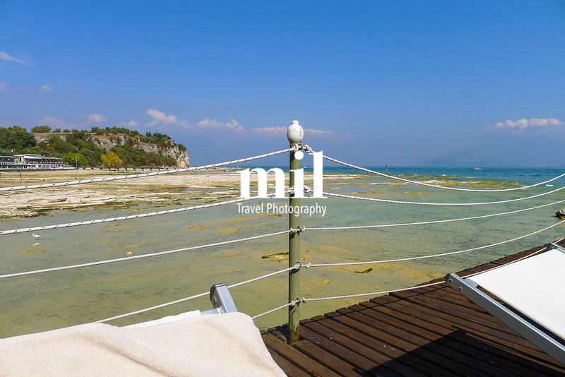 View from a sunbed in Sirmione on Lake Garda