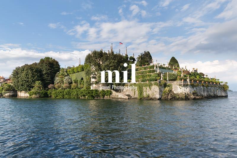 Isloa Bella in Lake Maggiore near Stresa Italy