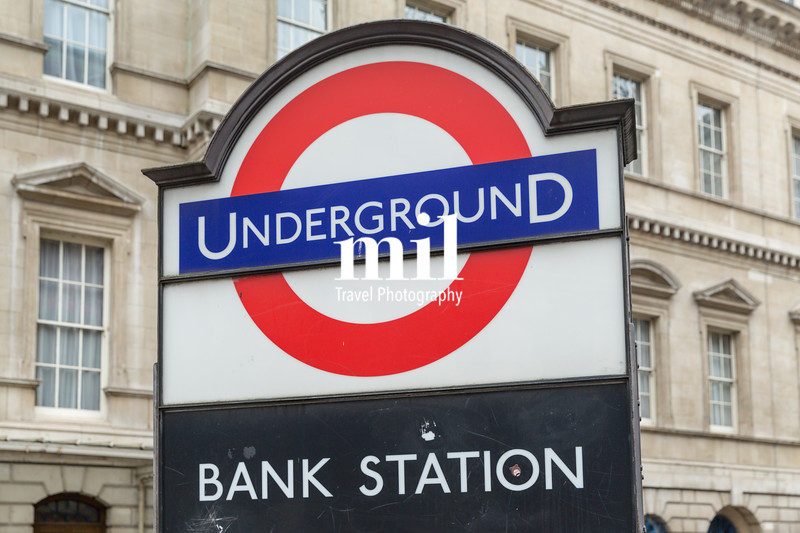 Underground entrance at Bank in the City of London