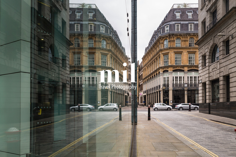 Business and Financial District of London in the UK - mirror reflection